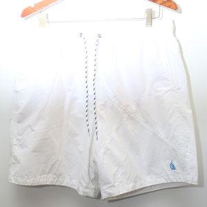 90's Vintage NAUTICA Logo White Cotton Swim Trunks